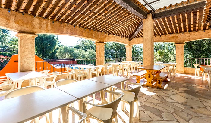 The restaurant terrace