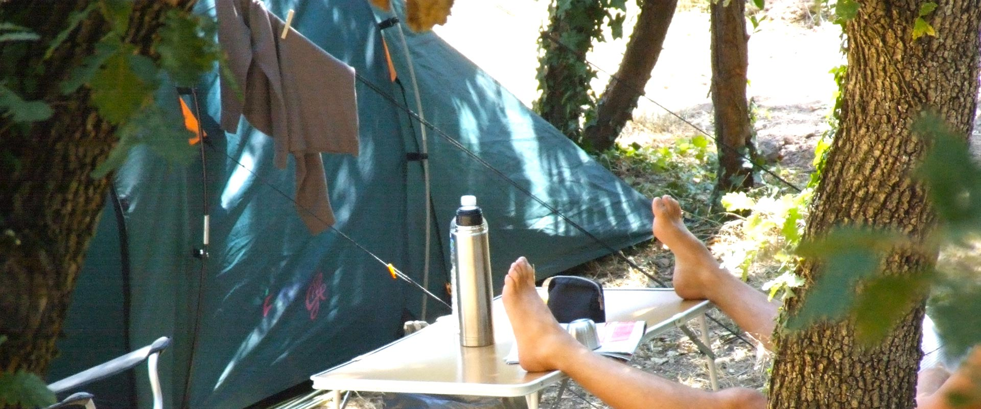 Small tent pitch - Camping les Philippons